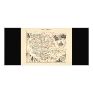 1858 Map of Tarn Department, France Rack Cards