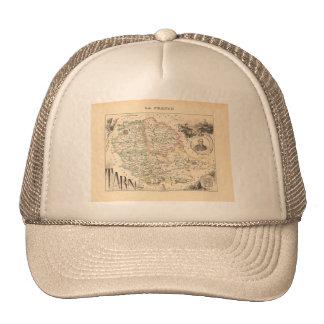 1858 Map of Tarn Department, France Trucker Hat