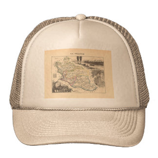 1858 Map of Vaucluse Department, France Trucker Hat