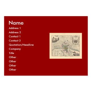 1858 Map: Paris en 1180 - France Large Business Card