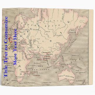 1858 World Map: Planisphere - France Vinyl Binder