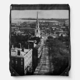 1859:  A view of Boston from the State House Drawstring Backpacks