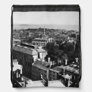 1859:  A view of Boston looking south Drawstring Backpack