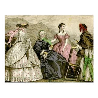 1859 Fashions Postcard