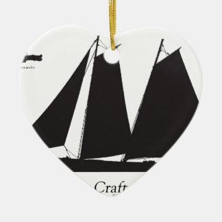 1864 Pilot Craft - tony fernandes Ceramic Ornament