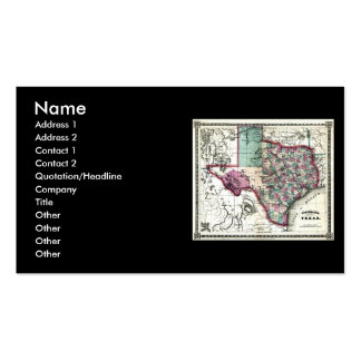 1866 Antiquarian Map of Texas by Schönberg & Co. Business Card Template