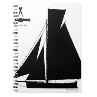 1867 solent cutter - tony fernandes spiral notebook