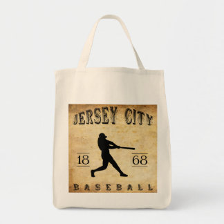 1868 Jersey City New Jersey Baseball Tote Bag