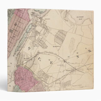 1868 Map of New York and Brooklyn Binders