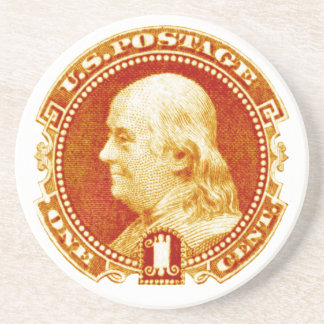 1869 Benjamin Franklin Stamp Coaster