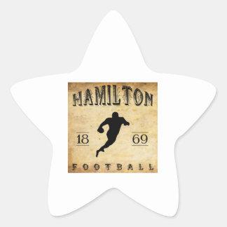 1869 Hamilton Ontario Canada Football Stickers