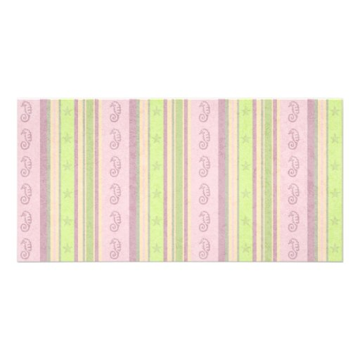 186__fish-tales-paper-1 PASTEL PINKS MAUVES GREENS Picture Card