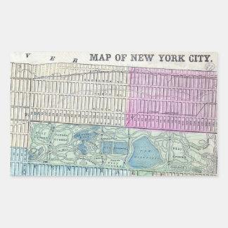 1870 Map New York City Central Park