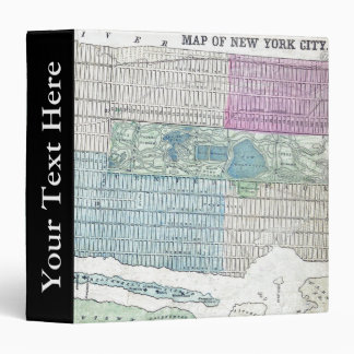 1870 Map New York City Central Park 3 Ring Binders