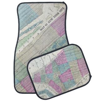 1870 Map New York City Central Park Car Mat