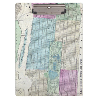 1870 Map New York City Central Park Clipboards
