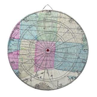 1870 Map New York City Central Park Dartboard