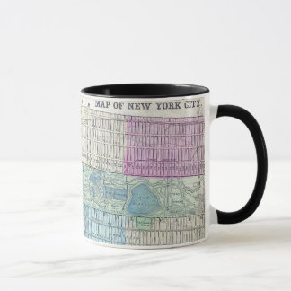 1870 Map New York City Central Park Mug