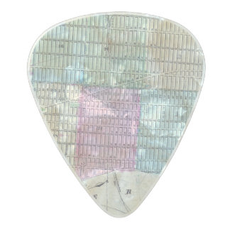 1870 Map New York City Central Park Pearl Celluloid Guitar Pick