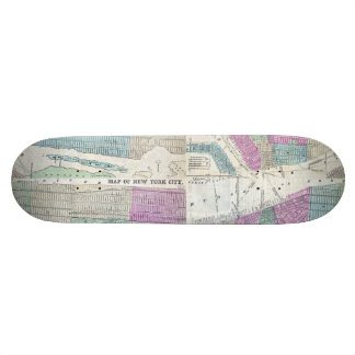 1870 Map New York City Central Park Skate Deck