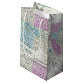 1870 Map New York City Central Park Small Gift Bag