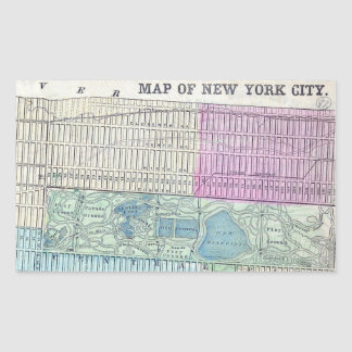1870 Map New York City Central Park Sticker