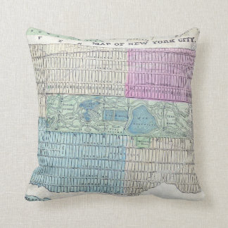 1870 Map New York City Central Park Throw Pillow