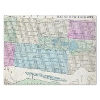 1870 Map New York City Central Park Tissue Paper