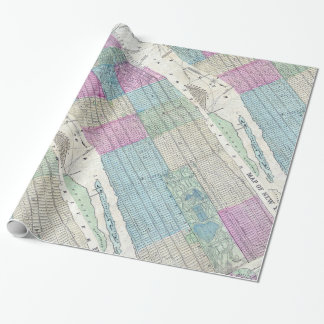 1870 Map New York City Central Park Wrapping Paper