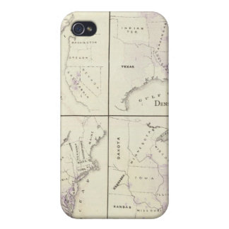 1870 United States census maps Cover For iPhone 4