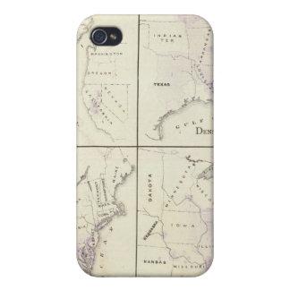 1870 United States census maps iPhone 4 Cover
