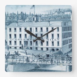 1871 Aurora Illinois Woolen Mills Clocks