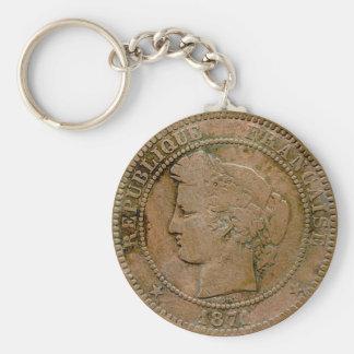 1871 French 10 Centime Keychain