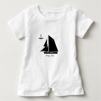 1873 Barge - tony fernandes Baby Romper