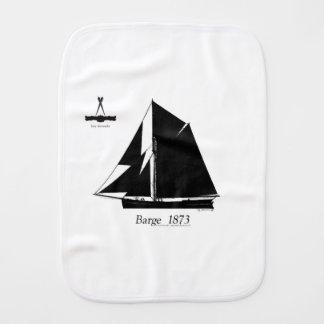 1873 Barge - tony fernandes Burp Cloth
