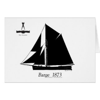 1873 Barge - tony fernandes Card