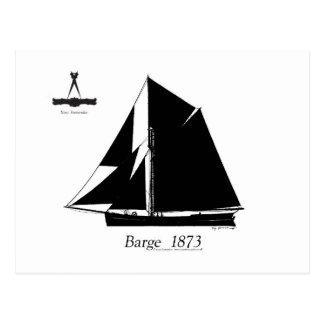 1873 Barge - tony fernandes Postcard