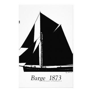 1873 Barge - tony fernandes Stationery