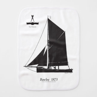 1873 Bawley - tony fernandes Burp Cloth