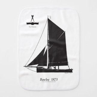 1873 Bawley - tony fernandes Burp Cloths