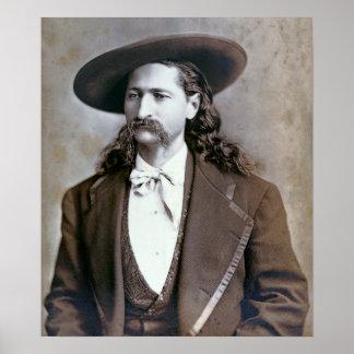 1873 ROCKWOOD WILD BILL HICKOK PORTRAIT POSTER