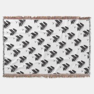 1873 trading ketch - tony fernandes throw blanket