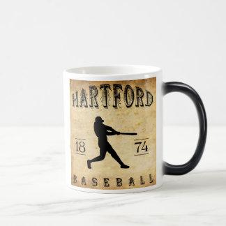 1874 Hartford Connecticut Baseball Magic Mug