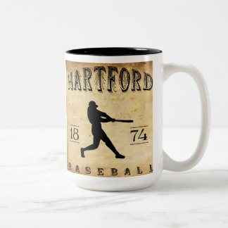 1874 Hartford Connecticut Baseball Two-Tone Coffee Mug