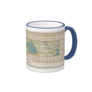 1875 Map of Central Park Coffee Mug