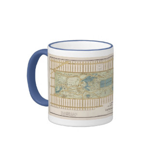 1875 Map of Central Park Ringer Coffee Mug
