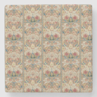 1875 Vintage William Morris Floral Embroidery Stone Coaster