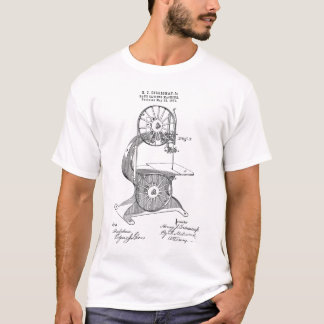 1876 US Patent for Egan Bandsaw T-Shirt