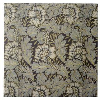 1876 Vintage William Morris  Anemone Tile