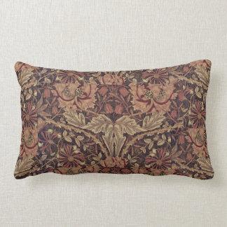 1876 Vintage William Morris Honeysuckle Lumbar Pillow